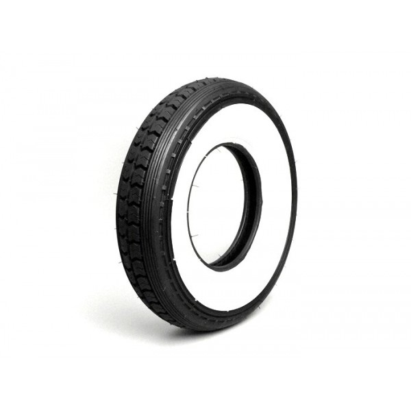 Neumático Vespa Continental - banda blanca 8'' 3.50-8