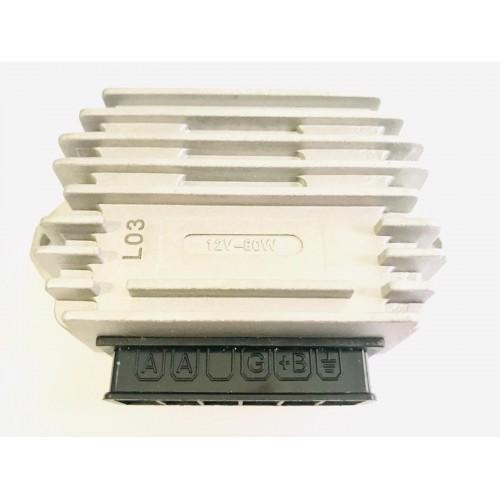 Regulador Vespa 5 clavijas 12V (A A G B+