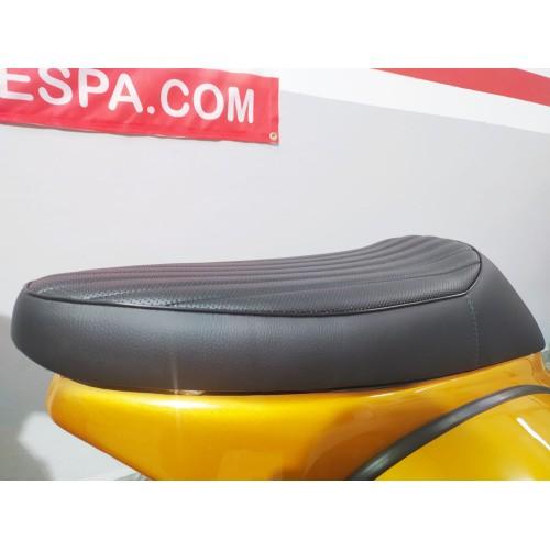 Asiento Vespa DN, IRIS, PX, Sprint, GS y 160 -Café Racer Negro-