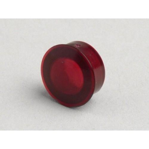 Testigo Manillar Vespa, Plástico Rojo 11.5mm