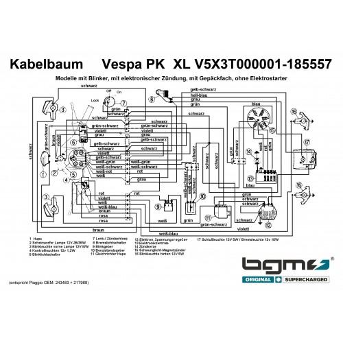 Instalación Eléctrica Vespa PKXL Sin elestart