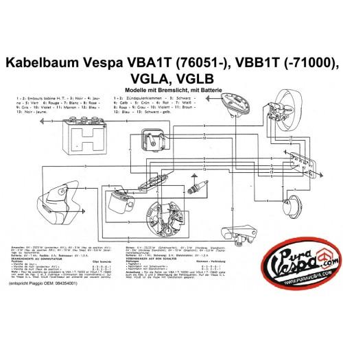 Instalación Eléctrica Vespa 150 VBA1T