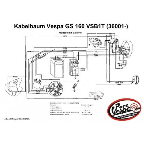 Instalación Eléctrica Vespa 160 GS VSB1T