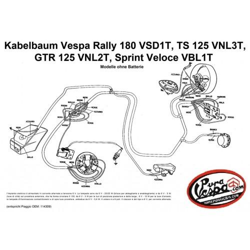 Instalación Eléctrica Vespa 125/150/180cc