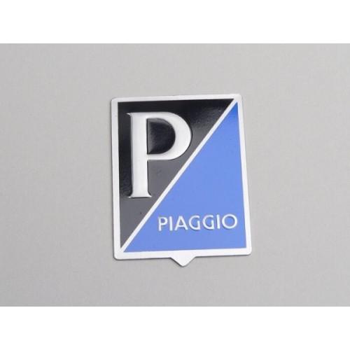 Anagrama Rectangular Nariz Vespa -Piaggio- Azul Oscuro